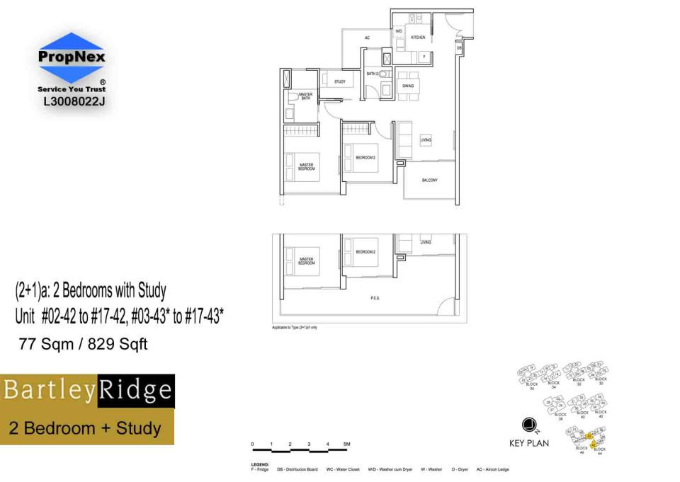 BartleyRidge 2Bdrm+Study floor planRS